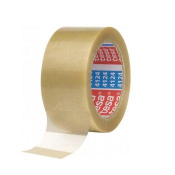 Tesa Professional Preminum PVC Carton Sealing Tape, 66 m x 50 mm, Transparent