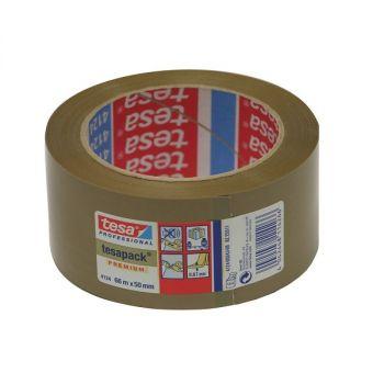 Tesa Professional Preminum PVC Carton Sealing Tape, 66 m x 50 mm, Brown