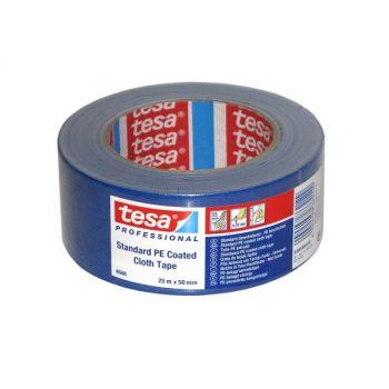 Tesa Standard Polyethylene Coated Cloth tape, 25m x 50mm, Blue