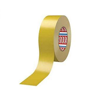 Tesa Standard Polyethylene Coated Cloth tape, 25m x 50mm, Yellow