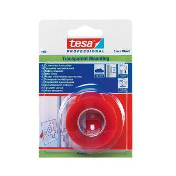 Tesa Professional Transparent Mounting Tape, 5m x 19mm