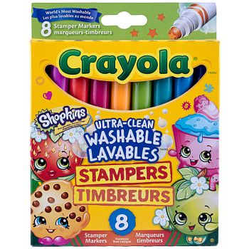 Crayola - 8 Shopkins Ultra clean Washables Stampers