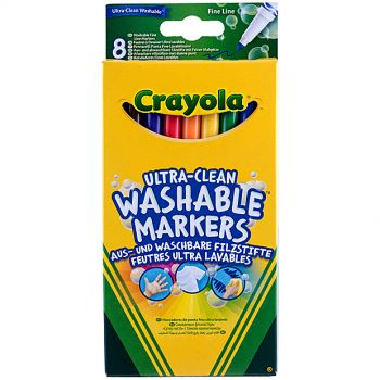 Crayola - 8 Ultra Clean Washable Markers