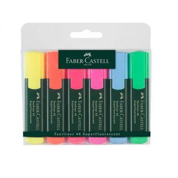 Faber Castell Highlighter Super Fluorescent Colors 6-Piece Set Multicolor