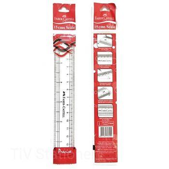 "Faber Castell-Plastic Ruler 15"" pack of 10Pcs"