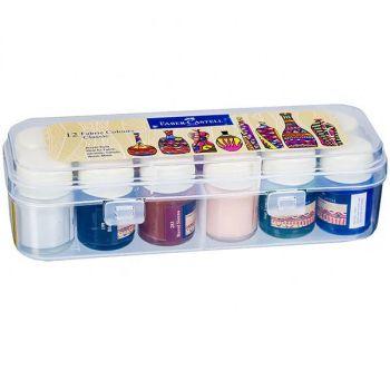 Faber Castell-Fabric Paint 12 Colors
