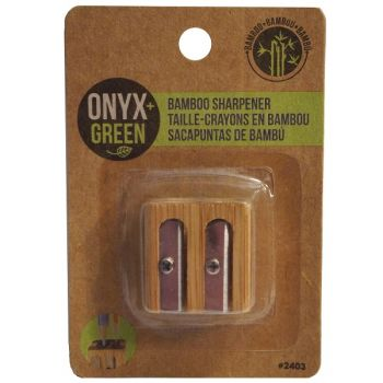 Onyx & Green Double Sharpener, Made From Bamboo (2403)