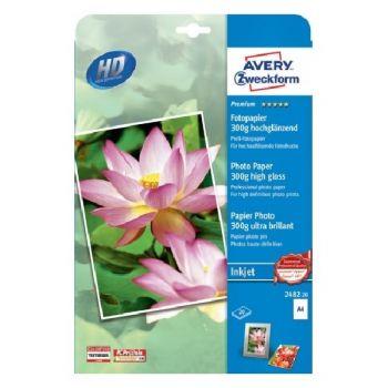 Avery Premium Inkjet Photopaper, A4, 20 Sheets Per Pack