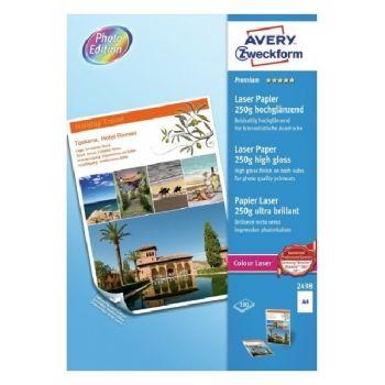 Avery Premium Colour Laser Paper, A4, 250 Gram, 100 Sheets Per Pack