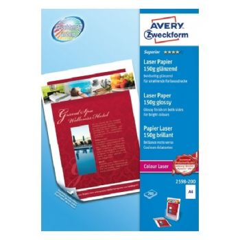 Avery Superior Colour Laser Paper, A4, 200 Sheets Per Pack