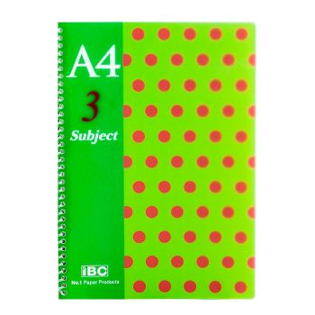 IBC 3 Subject 4 pocket Notebook A4 Size Color Dots (MP-09-3S-CPP-D)