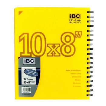 IBC On - Line Notebook 120 sheets 10x8 Wire-O Color pp (EIBC150202)