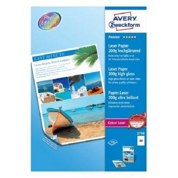Avery Premium Colour Laser Paper, A4, 200 Gram, 100 Sheets Per Pack