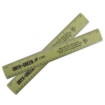 Onyx & Green Ruler 30Cm Made Of Wheat Straw Green (2950)