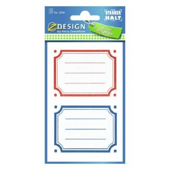 Avery Colored Book Labels, 6 Labels Per 3 Pages