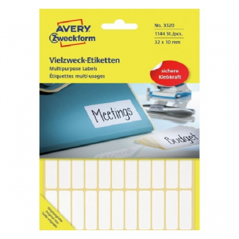 Avery Multi Usage Labels , 1144 Labels Per 26 Pages