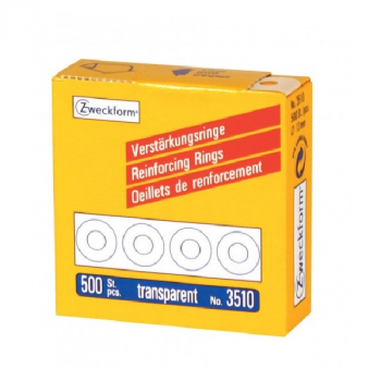 Avery Reinforcement Rings With Dispenser , 500 Reinforcing Rings Per 1 Roll, Transparent