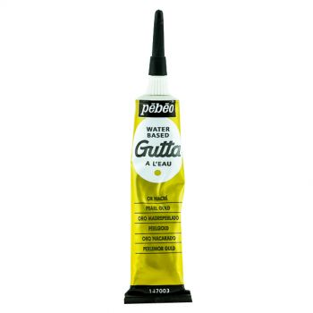 Pebeo Gutta Water Based Pearl Gold color for Fabric Painting 20 ml