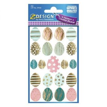"""Avery Easter Stickers """"Eastereggs"""", 21 Sticker Per 1 Page"""