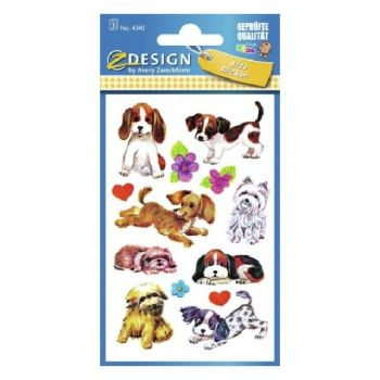 Avery Paper Stickers For Kids, Dogs, 26 Sticker Per 3 Page