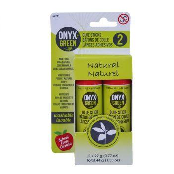 Onyx & Green Glue Sticks, Made From Plant Based Glue, 22Gm, Eco Friendly - 2 Pack (4701)