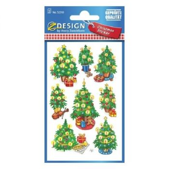 Avery Christmas Stickers, Christmas Trees, 16 Sticker Per 2 Page
