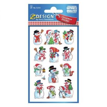 Avery Christmas Stickers, 36 Sticker Per 3 Page
