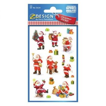 Avery Christmas Stickers, Santa Clauses, 16 Sticker Per 2 Page