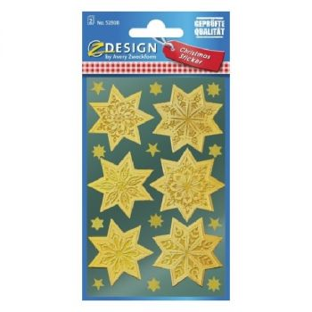 Avery Christmas Stickers, Stars, 36 Sticker Per 2 Page