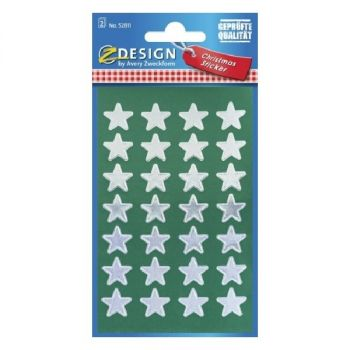 Avery Christmas Stickers, Stars, 56 Sticker Per 2 Page