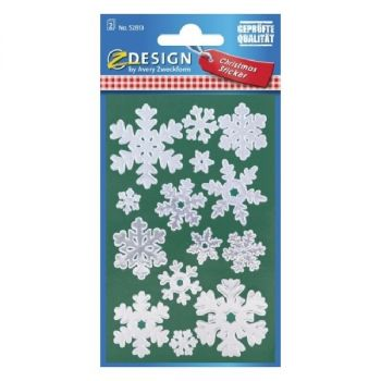 Avery Christmas Stickers, Snowflakes, 28 Sticker Per 2 Page