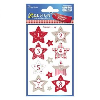 Avery Christmas Stickers, 24 Sticker Per 3 Page