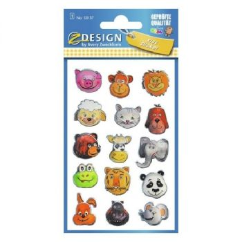 Avery 3D Stickers For Kids, 15 Sticker Per 1 Page
