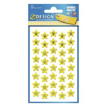 Avery Paper Stickers For Kids, Star Faces, 120 Sticker Per 3 Page