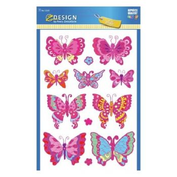 """Avery Large Stickers """"Butterflies"""", 12 Sticker Per 1 Page"""