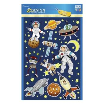 """Avery Large Sticker """"Space"""", 10 Sticker Per 1 Page"""
