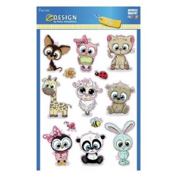 """Avery Large Stickers """"Baby Animal"""", 13 Sticker Per 1 Page"""