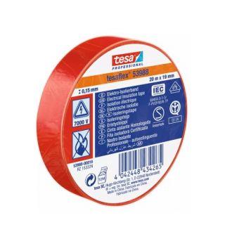 Tesaflex Professional Soft PVC Insulation Tape, 20mx19mm, Red