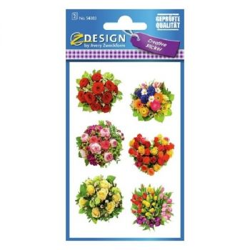 Avery Deco Stickers, Bouquets Of Flowers, 12 Sticker Per 2 Page