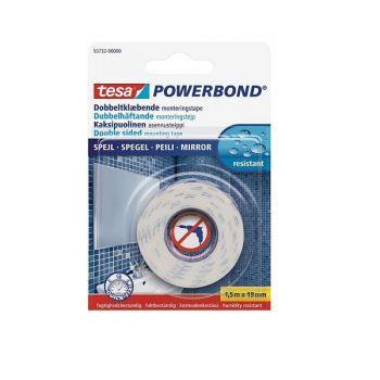 Tesa Powerbond Mirror, double-Sided adhesive Tape, 1.5m x 19mm