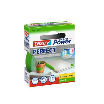 Tesa Extra Power Perfect Strong Cloth Tape, 2.75m x 19mm, Green