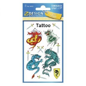 Avery Temporary Kids Tattoo, 11 Dragon Tattoos Per 1 Page