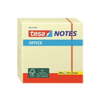 Tesa Office Sticky Notes, 100 sheets, 75mm x 75mm, Cube