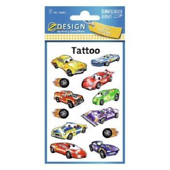 Avery Temporary Kids Tattoo, 12 Racing Machines Tattoos Per 1 Page