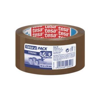 Tesapack Strong PP Carton Sealing Tape, 66 m x 50 mm, Brown