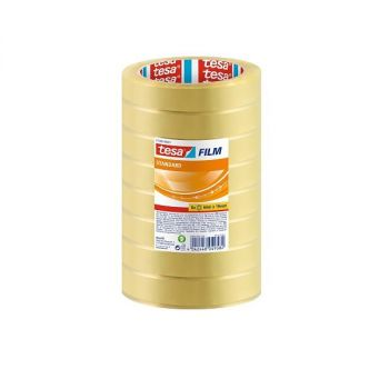 Tesa film Standard Clear Multi-Purpose Adhesive Tape for Home, Office and School, 66 m x 19 mm(Pack of  8 Rolls)