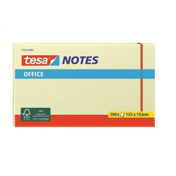 Tesa Office Sticky Notes, 100 sheets, 125mm x 75mm