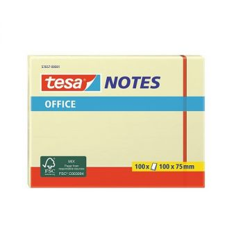 Tesa Office Sticky Notes, 100 sheets, 100mm x 75mm