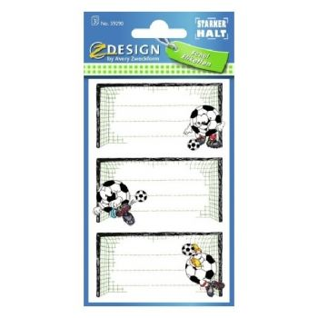 Avery Book Labels, Sccoer Ball, 9 Labels Per 3 Pages