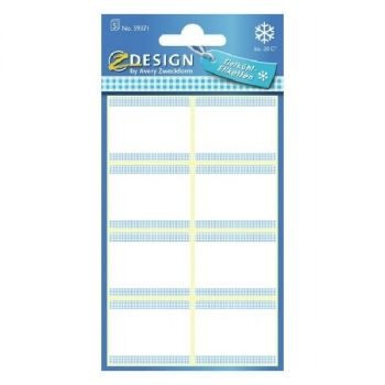 Avery Freezer Labels, White-Blue Frame, 40 Labels Per 5 Pages